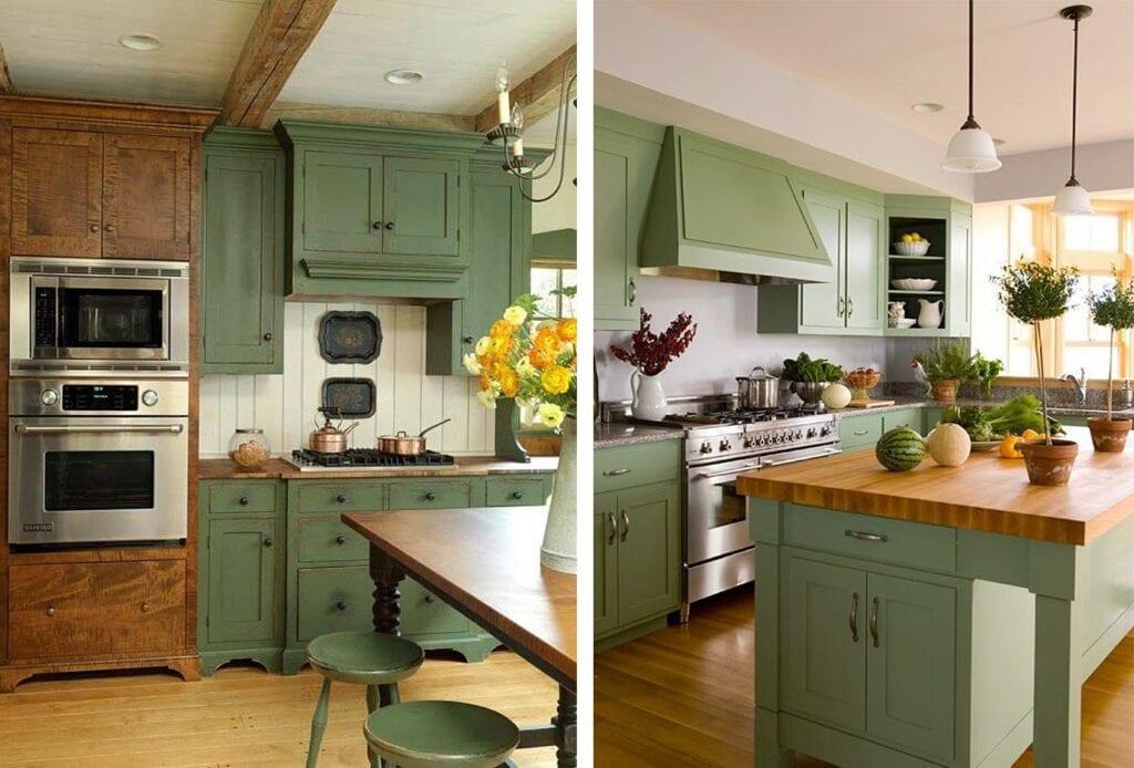 Пристройка Салатовая кухня дизайн интерьера