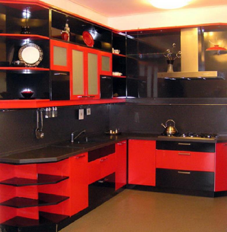 Дизайн черно красного туалета фото
