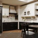 Черно-белая кухня - правильный дизайн, 100 фото