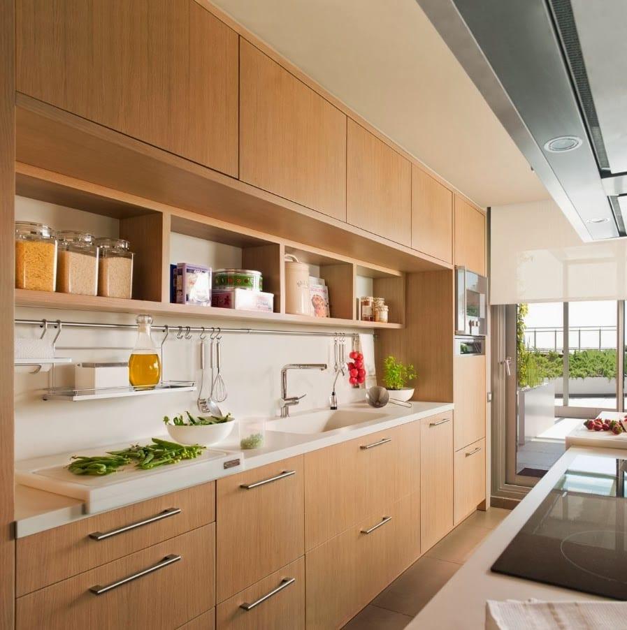 Кухня с деревом дизайн фото