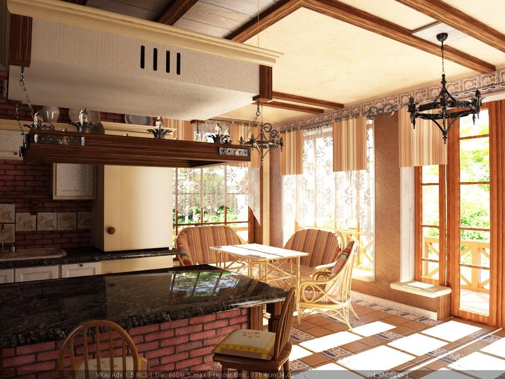Дизайн дома в кантри стиле