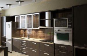 Кухни коричневого цвета: дизайн и отделка, интерьер