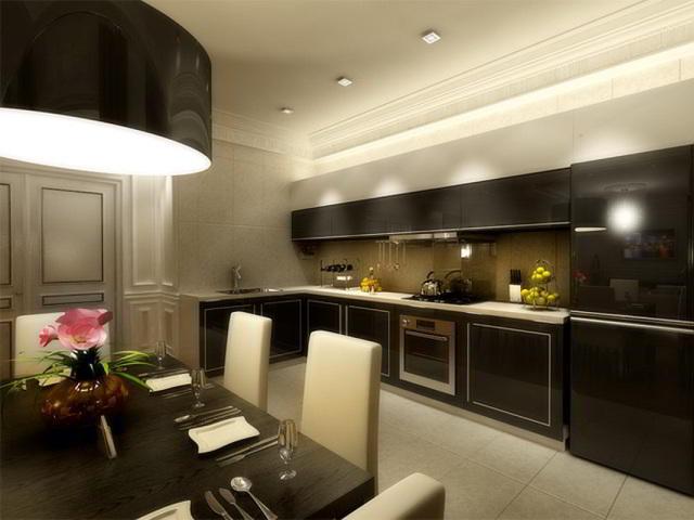 Дизайн для коричневой кухни