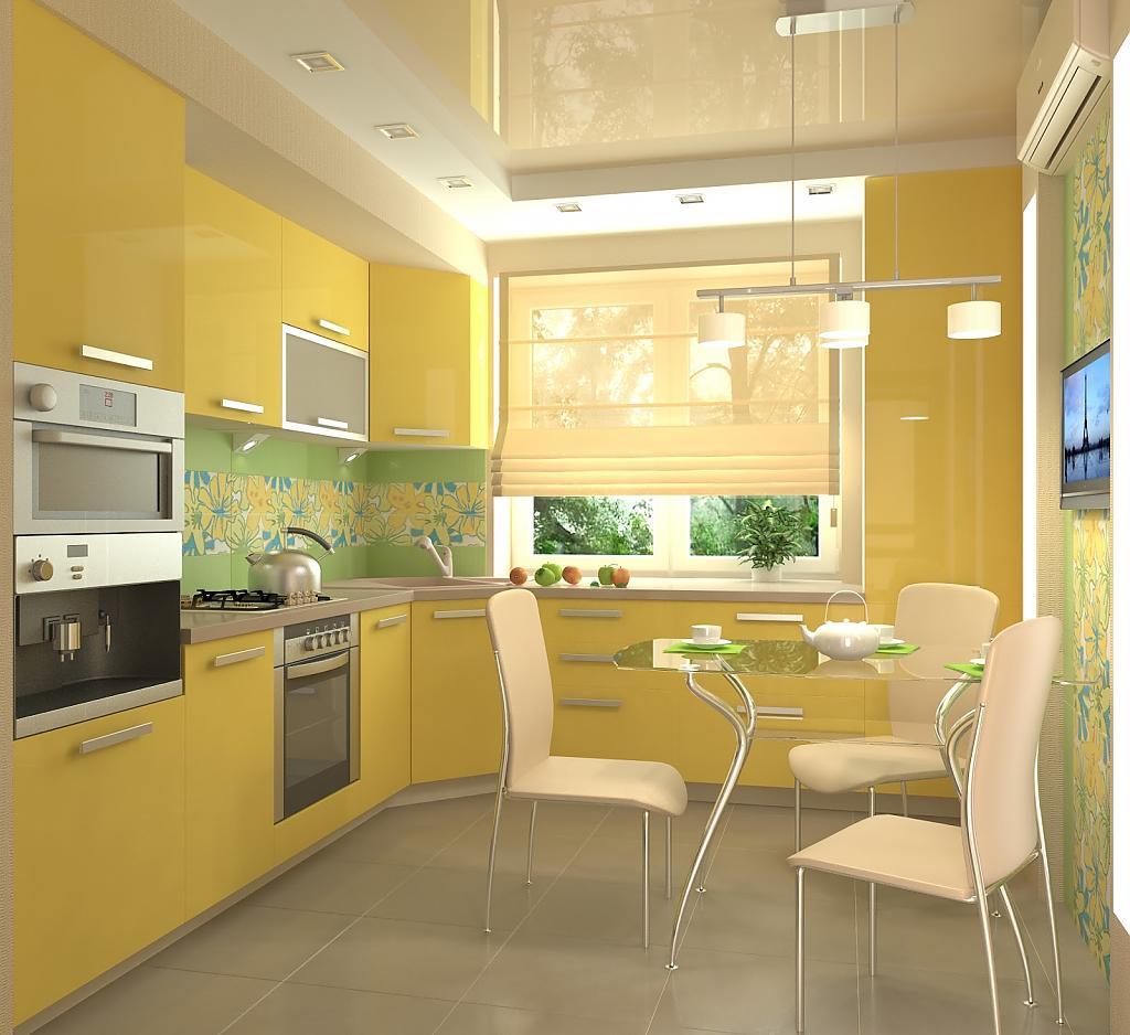 Желтые кухни в интерьере фото