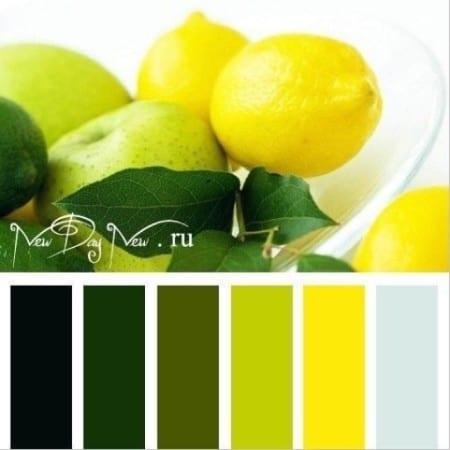 Зеленый и желтый