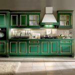кухня-зеленого-цвета-Vismap+Cucine