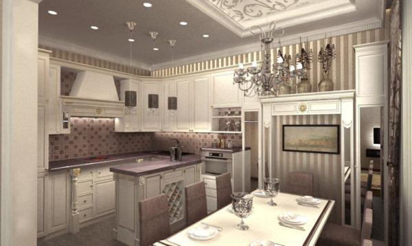 Классические кухни: 80 фото гарнитуров и дизайна интерьера.