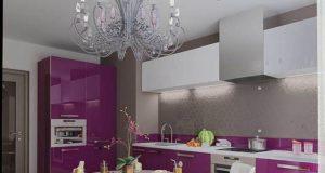 Сиреневая кухня в интерьере: дизайн и оформление