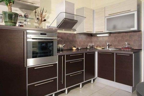 Кухня венге с белым