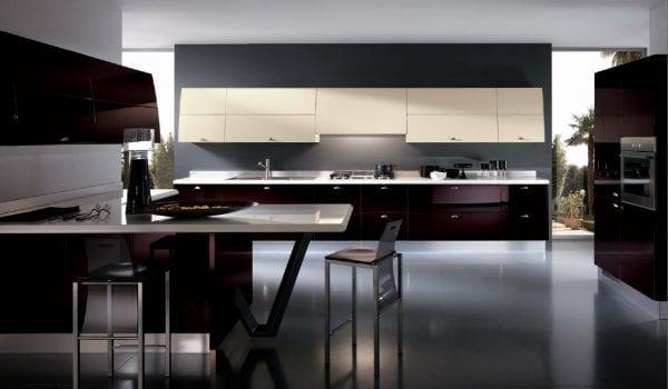 Кухонная мебель в стиле hi-tech