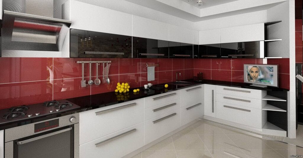 Большие угловые кухни фото