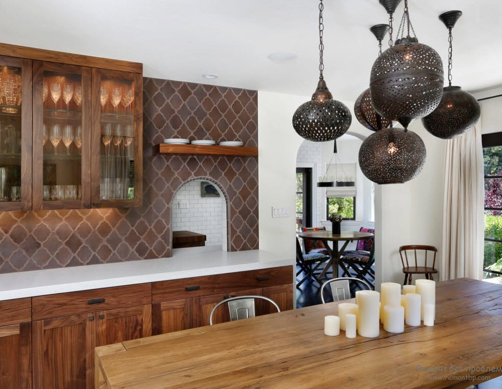Кухня в марокканском стиле дизайн фото