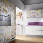 Incredible-Kitchen-Decoration-With-Violet-Countertop-Images