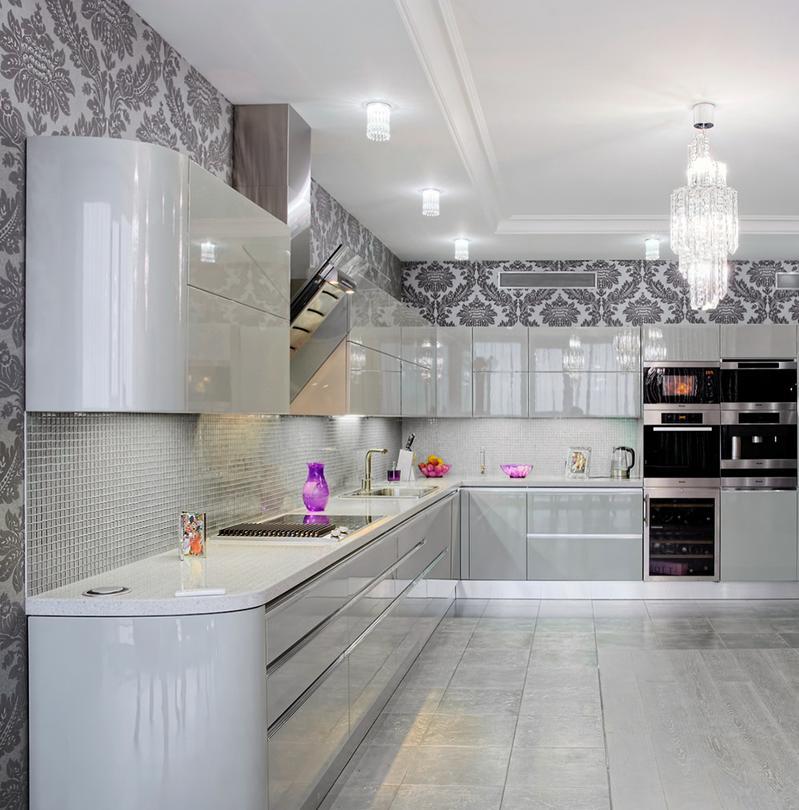 современные кухни в стиле модерн фото угловые