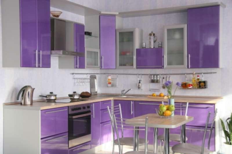 Кухни сиреневого цвета дизайн
