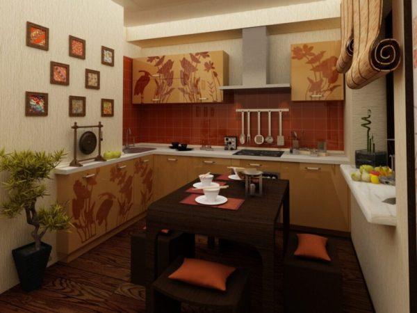 Кухни в восточном стиле