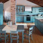 eye-catching-blue-sharp-kitchen-set-design