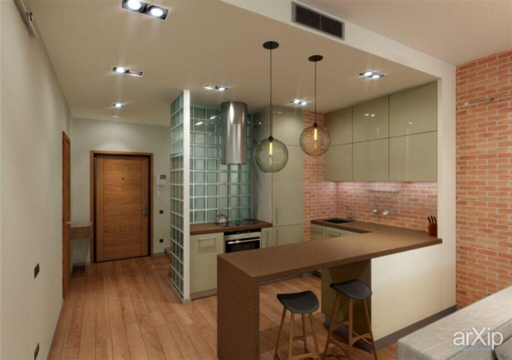 Дизайн кухни ниши