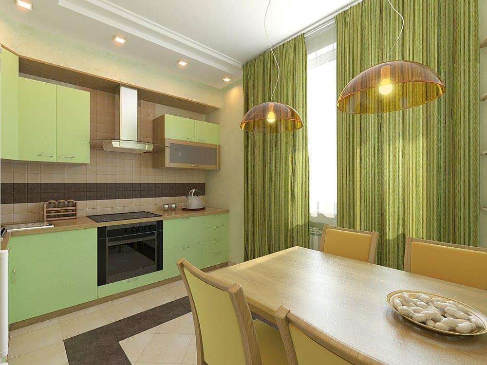 Фисташковая кухня: 50 фото дизайн-проектов, сочетание с друг.