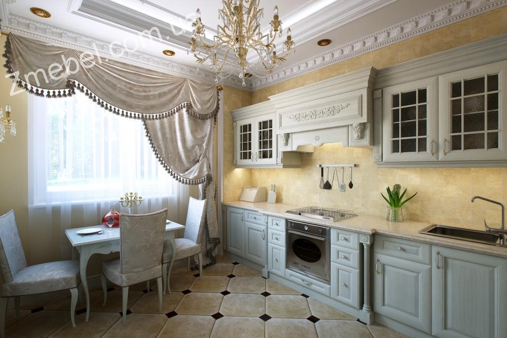 Интерьер кухни в стили классика