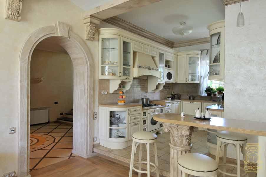 Кухня дизайн светлая