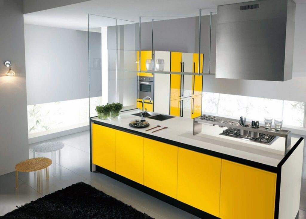 Стиль минимализм в интерьере кухня 179