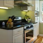 small-kitchen-design-idea-with-green-wall-painting