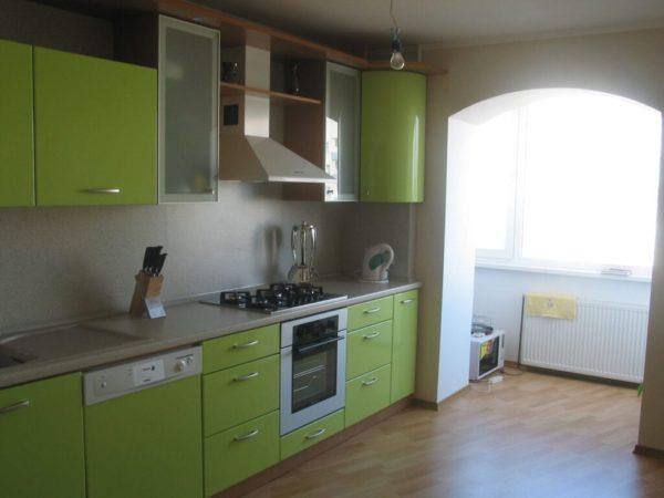 Оливковый цвет в интерьере кухни