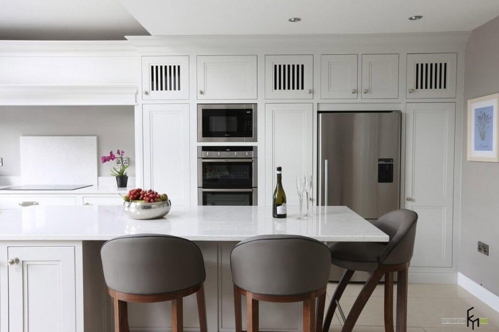 Кухни белого цвета в стиле современная классика