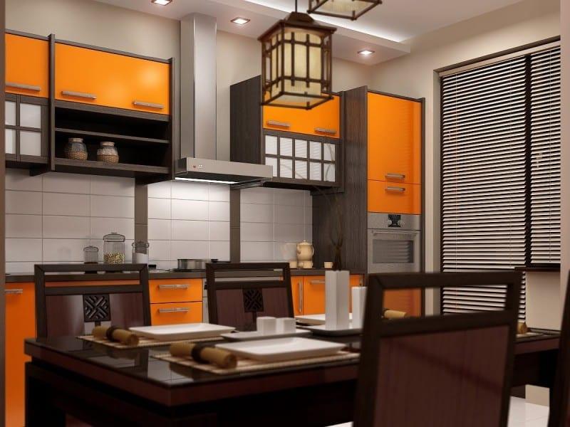 Цвет кухни по фен-шуй правила