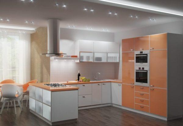 Кухни с глянцевыми фасадами