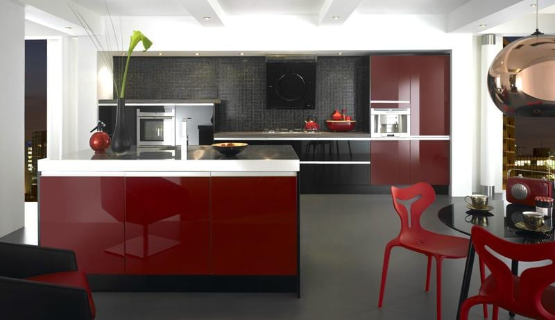 70 for Kitchen designs red and black