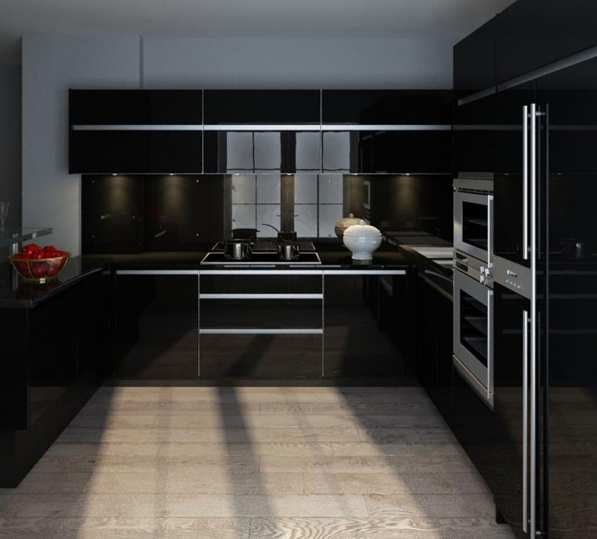 Кухня черная фото дизайн