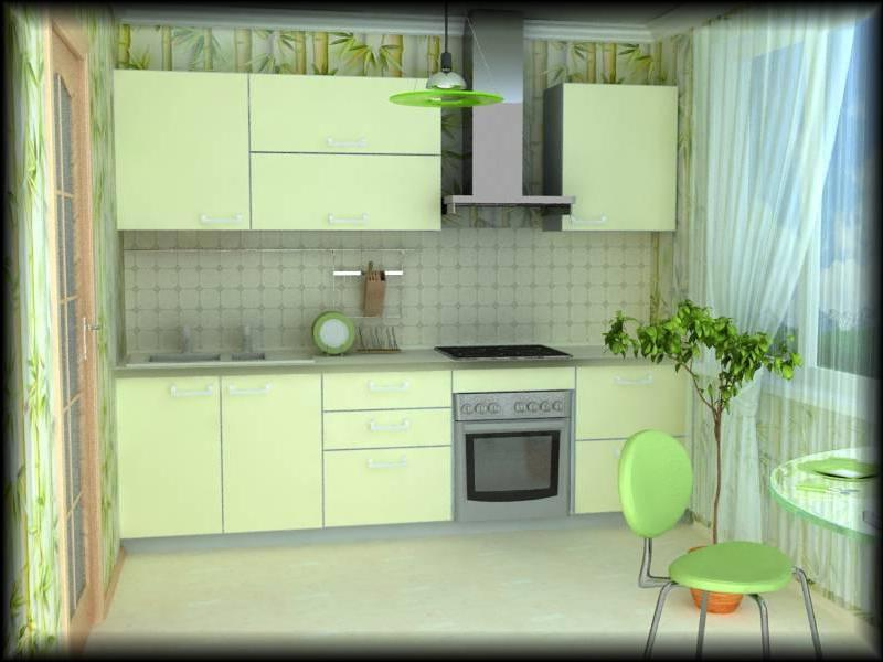 Дизайн эконом кухонь