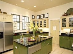 Благородная оливковая кухня и ее оформление
