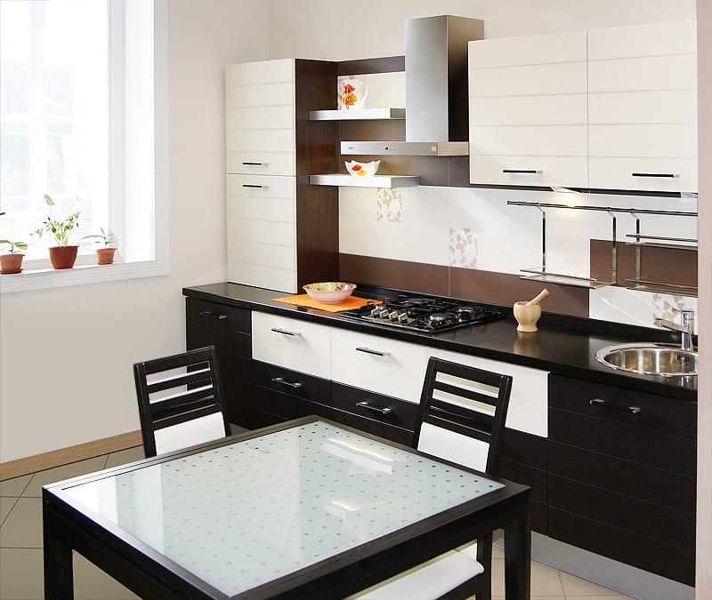 Кухни дизайн фото кофейный с молочными