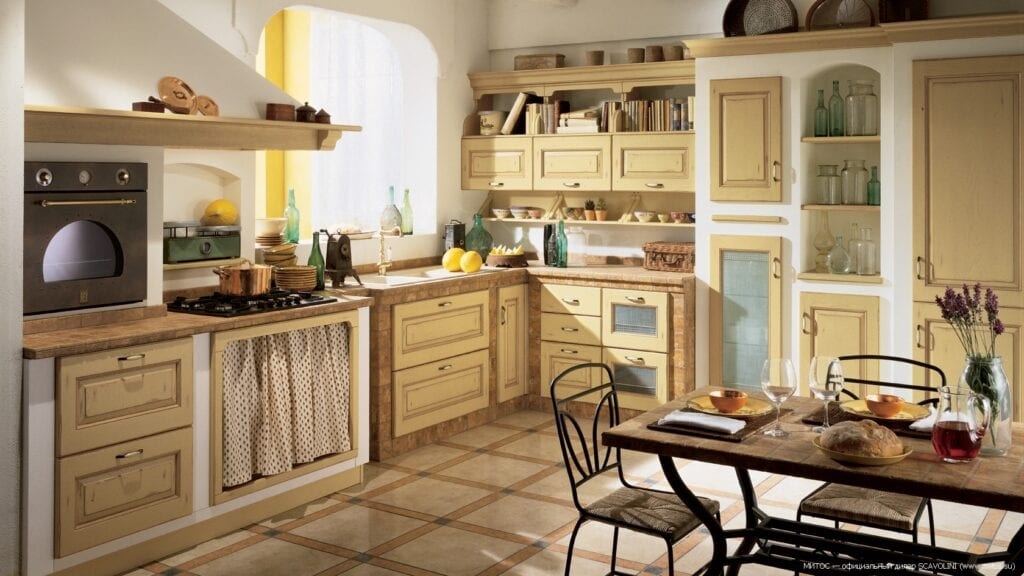 дизайн фото кухни в деревенском стиле