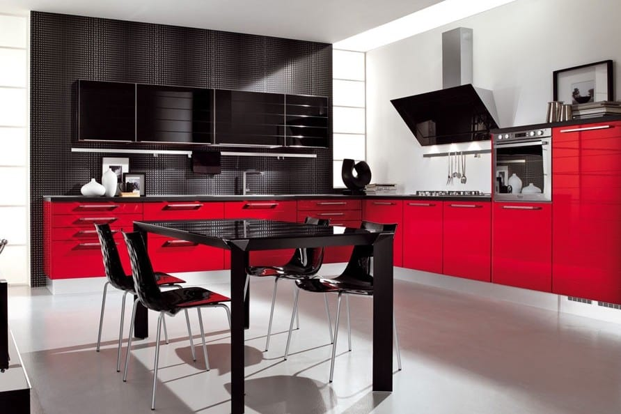 70 for Kitchen ideas red and black