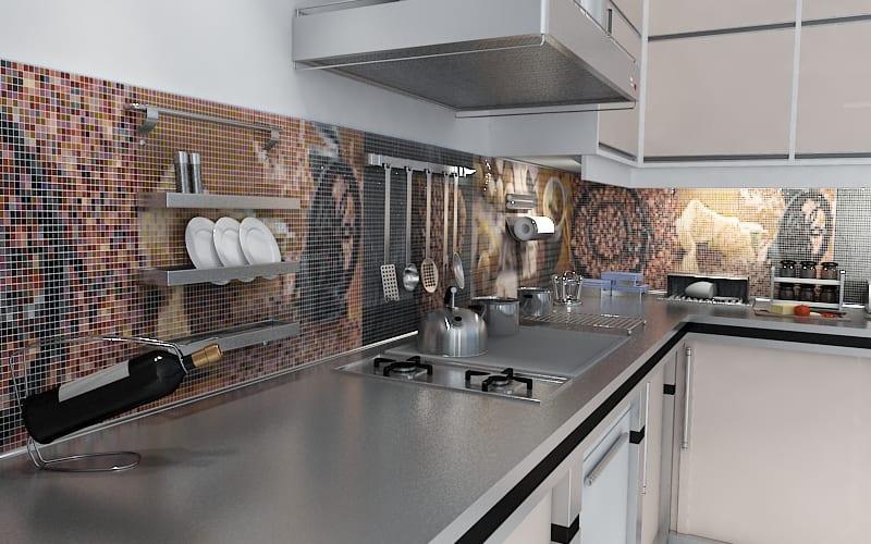 Дизайн кухни с мозаикой фото