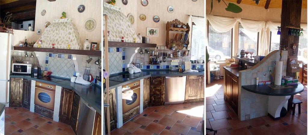 Дизайн маленькой дачной кухни своими руками фото 24
