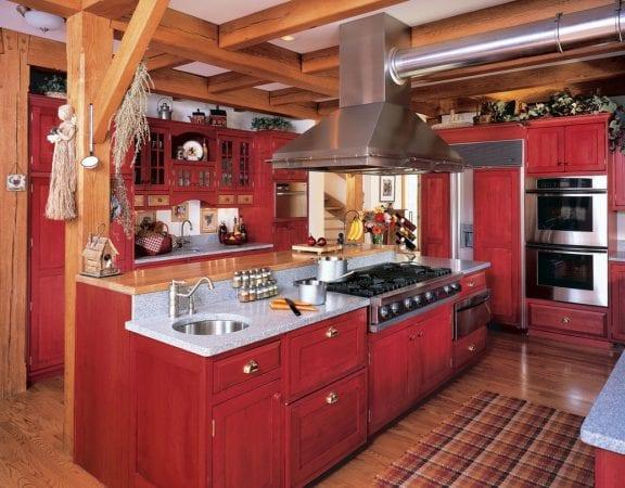 Красно-черная кухня – 70 фото дизайн-проектов для оригинального интерьера