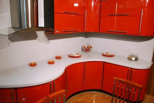 Радиусные кухонные фасады