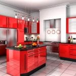 Черно-красная кухняЧерно-красная кухня