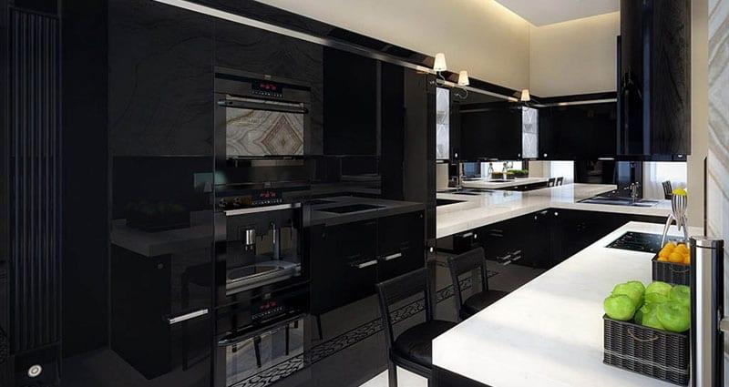 Холодильник черного цвета