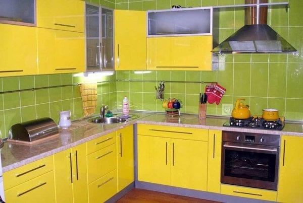 Кухня цвета лайм: 90 фото дизайн-проектов, кухонный гарнитур и интерьер