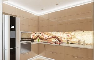 Кухня цвета шампань металлик
