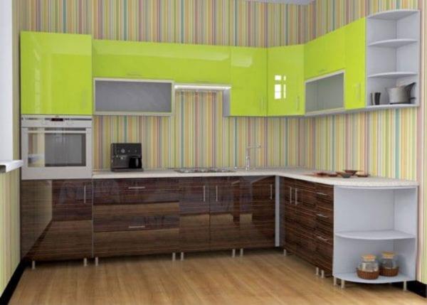 Кухня лайм и венге