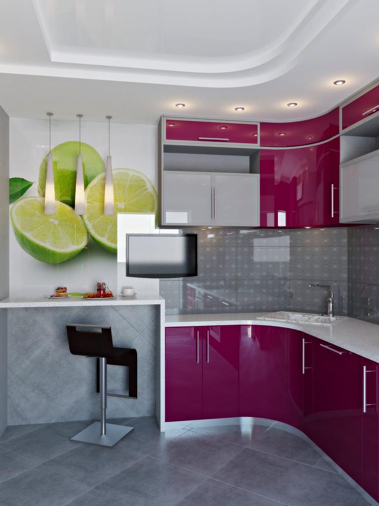 фуксия фото цвет кухня