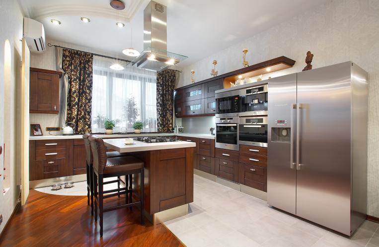 Дизайн интерьера кухни 9м2