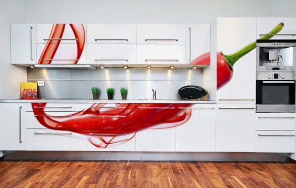 Кухни с фотопечатью на фасаде